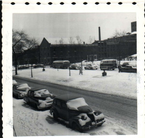 Snow at JHH  March 1954